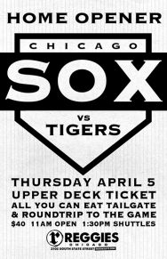 White Sox Vs Tigers (Home Opener)