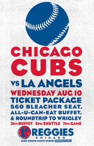 CUBS VS ANGELS AT WRIGLEY TICKET PACKAGE