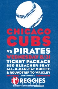 CUBS VS PIRATES AT WRIGLEY TICKET PACKAGE