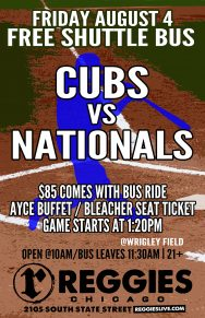 Cubs vs Nationals at Wrigley Ticket Package