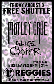SHUTTLE TO MOTLEY CRUE, ALICE COOPER