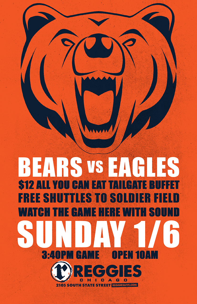 d54d07ce7 Bears Playoff Game With Sound - Reggies Chicago