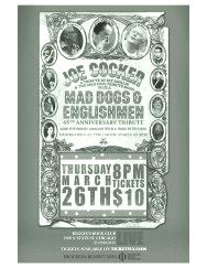 Joe Cocker Tribute on March 26 2015 Poster