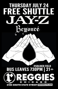 SHUTTLE TO BEYONCE, JAY Z