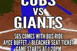 Reggies Cubs vs Giants Package