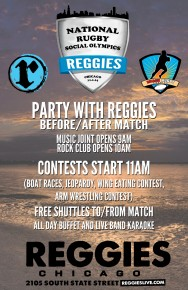 BEACH RUGBY'S REGGIES TAILGATE PARTY