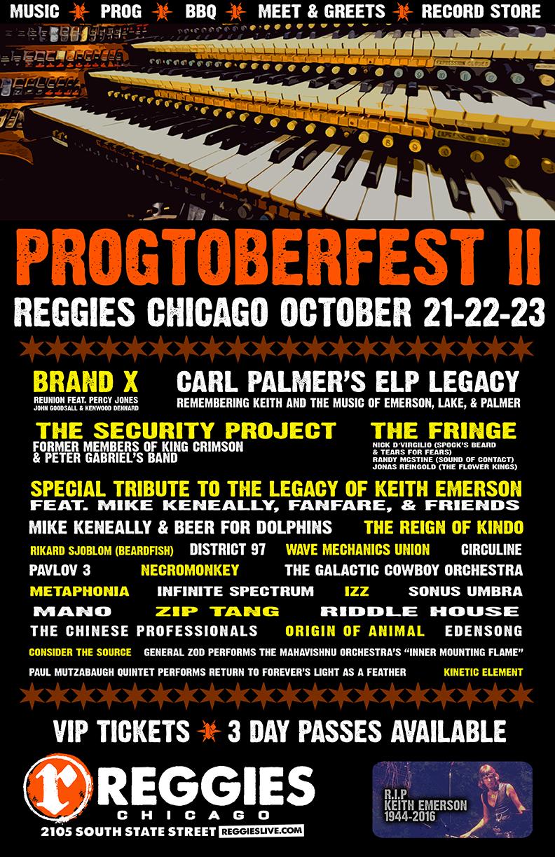 Progtoberfest II at Reggies Rock Club October 20-22
