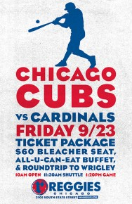 CUBS VS CARDINALS AT WRIGLEY TICKET PACKAGE